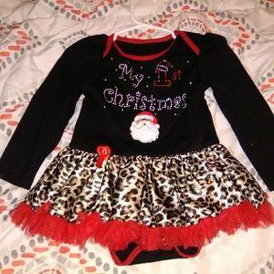 Custom made 👗My 1st Christmas tutu dress size